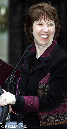 Baroness Ashton has been staying at a five star hotel in Melbourne