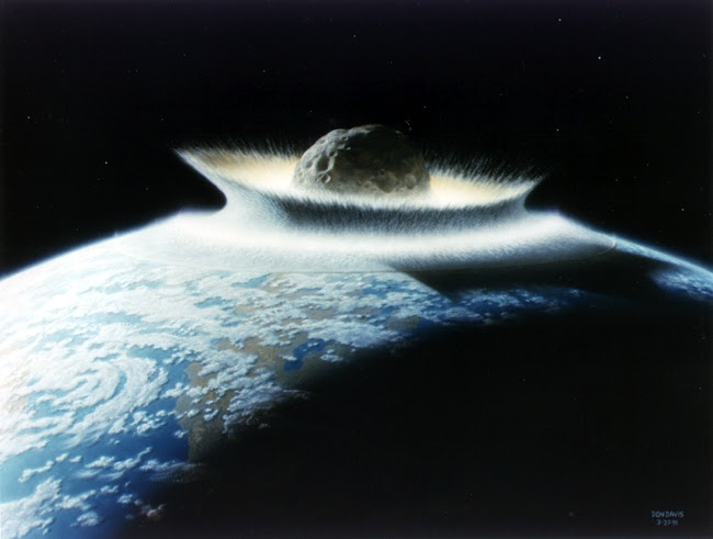 An artist's image of an asteroid Impact. Image Credit: University of California Observatories/Don Davis.
