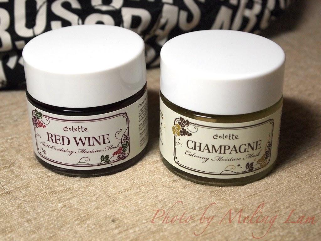 colette red wine mask champagne mask