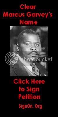 Clear Marcus Garvey Black