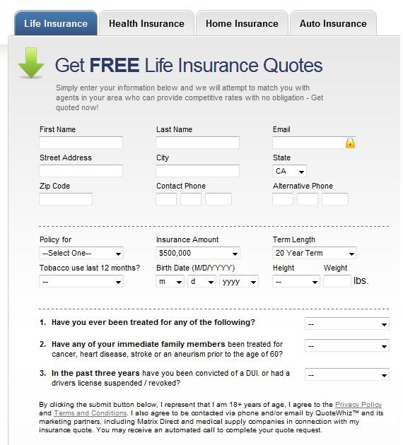 Term Life Insurance Quote Calculator 2: Insurance Quotes: Life Insurance Quotes Examples