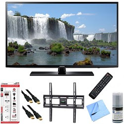 Samsung UN60J6200 - 60-Inch Full HD 1080p 120hz Smart LED HDTV Mount & Hook-Up Bundle