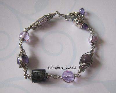 Wire Wrapped Purple Bracelet