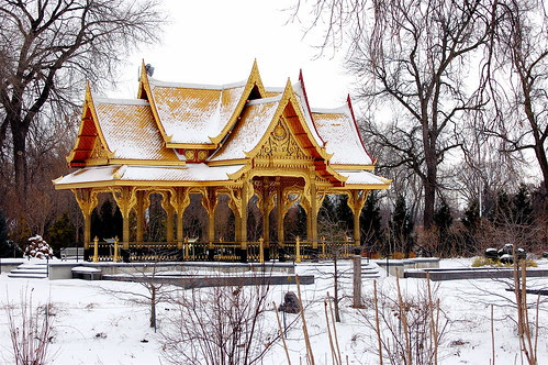 Thai pavilion in the snow