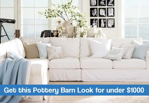 Pottery Barn Coastal Inspiration Living Room On A Budget Money