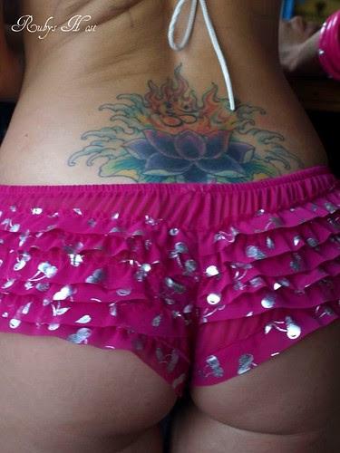 lower back tattoo flower