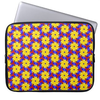 Pinwheel-like Design on Laptop Sleeve