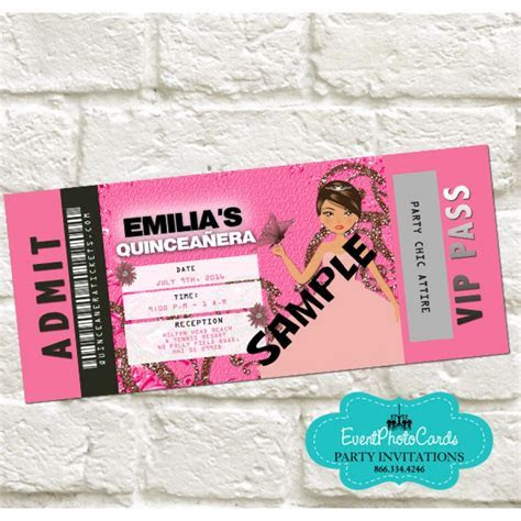 Pink Dress Doll Quinceanera Invitations Anos