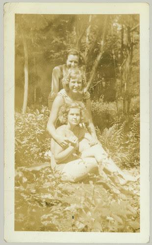 Three girls in a row
