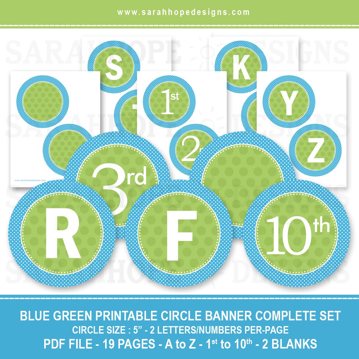 Spell Out Anything With these FREE Alphabet Circle Banners from ...
