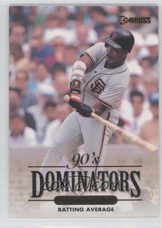 1994 Donruss - 90's Dominators Batting Average #7 - Barry Bonds - COMC Card Marketplace