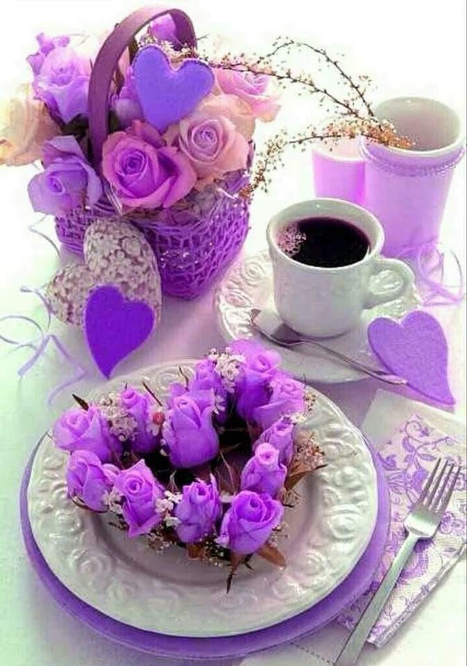 Have A So Sweet Good Morning Violet Lavendergolden Foto