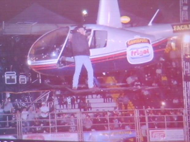 Aparelho era usado nas apresentações do locutor da festa (Foto: Divulgação)