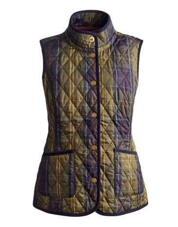 Joules Light quilted Vest, Clock Check.