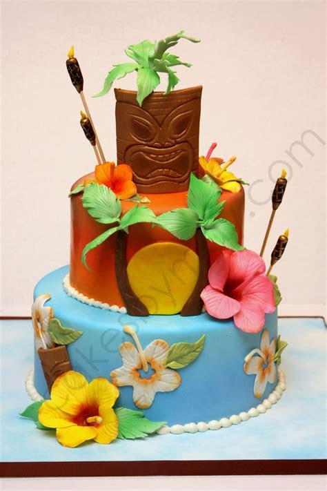 Hawaiian Themed Birthday Cake   CakeCentral.com