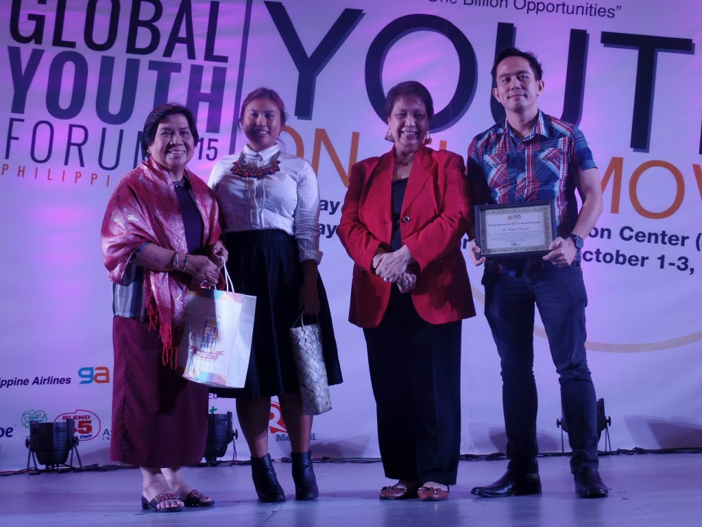 The VoiceMaster Receives Certificate of Appreciation as one of the Speakers