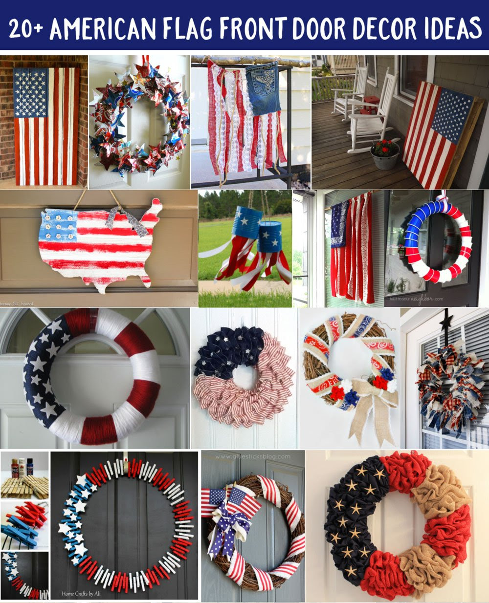20  American Flag Front Door Decor DIY Projects