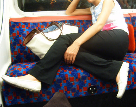 Taking up space on the tube