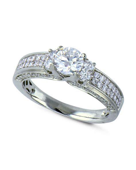 Two Row Pavé Diamond Engagement Ring   Turgeon Raine