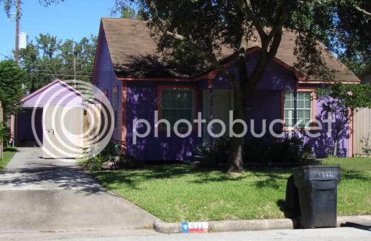 Purple house on Gale
