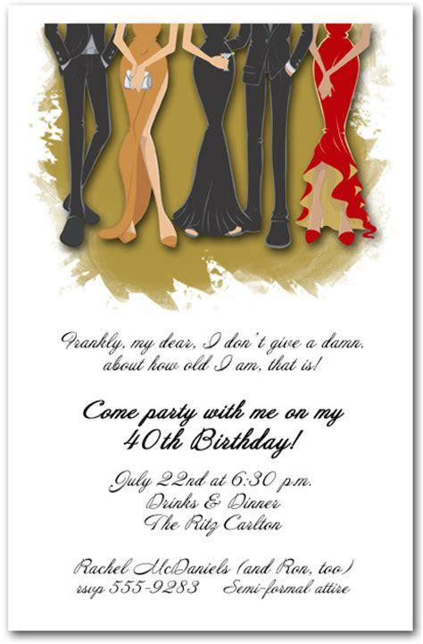 Legs Formal Attire Party Invitation