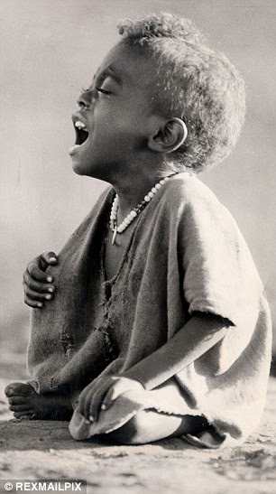 The first sign of an improvement in some children is finding the energy to cry