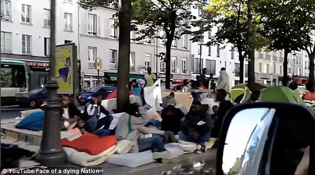 An anonymous Frenchman wearing a hidden camera recorded the aftermath of a raid on a migrant camp on Avenue de Flandre in the north of the French capital