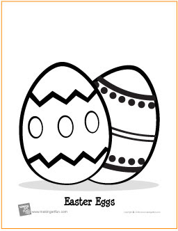easter eggs  free printable coloring page