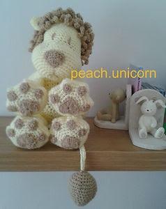 Leo the Lion Crochet Pillow / Cushion So Cute !!