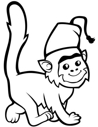 Disegno Di Scimmia Carina Colf Ex Da Colorare Disegni Da