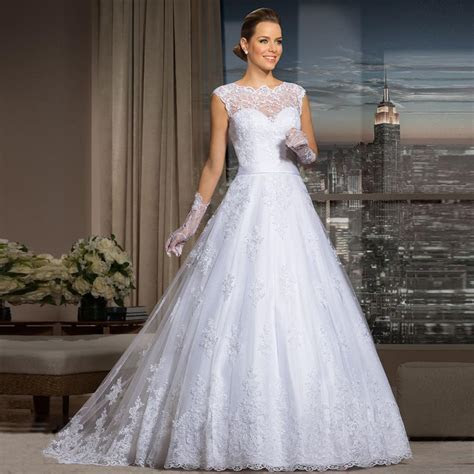 Vestido De Noiva 2015 Cheap Lace Wedding Dresses Sheer