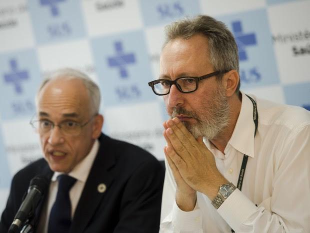 Cláudio Maierovitch e Antônio Nardi, Ministério da Saúde (Foto: Marcelo Camargo/Agência Brasil)