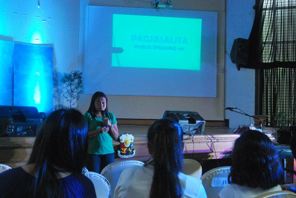 Ada Cuaresma teaches Public Speaking in Passcode Pagsasalita