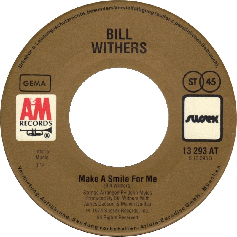 45cat Bill Withers The Same Love That Made Me Laugh Make A