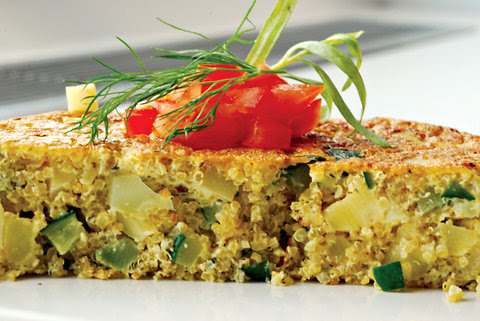 vegetable frittata with quinoa