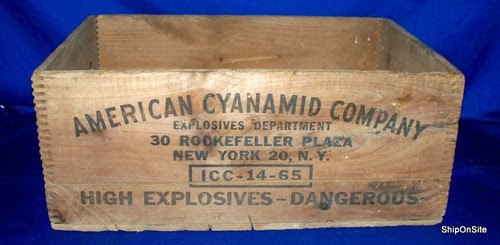 antique american cyanamid company - high explosives dynamite woo