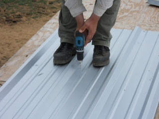 Pre-Drilling Holes in Roofing Metal