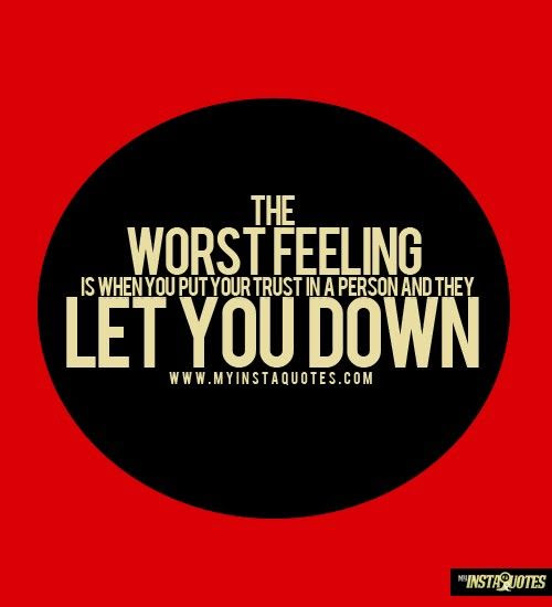 Quotes About Being Let Down Pic