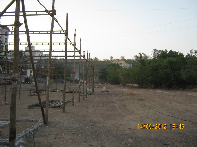 Remains of the launch event at the site of Suyog Aura Warje - Visit Suyog Aura Warje Pune 411052