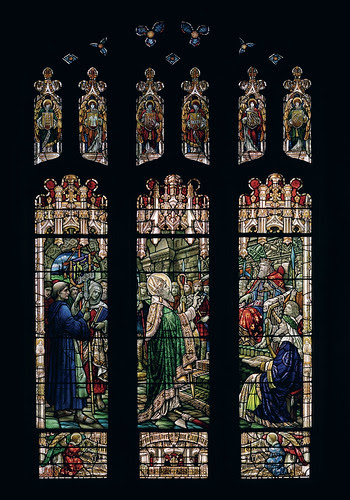 St. Patrick window at BC