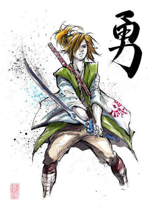 Legend of Zelda Sumie Illustrations by MyCKs