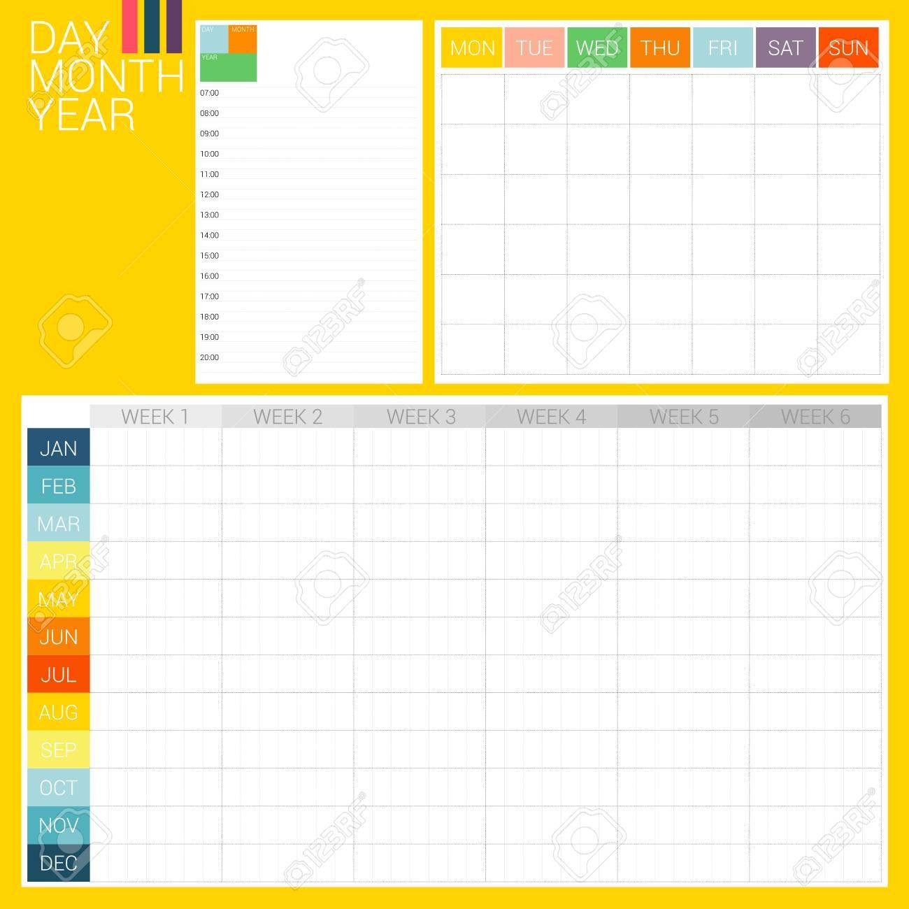 3 Types Of Planner, Day Planner, Month Planner And Year Plan ...