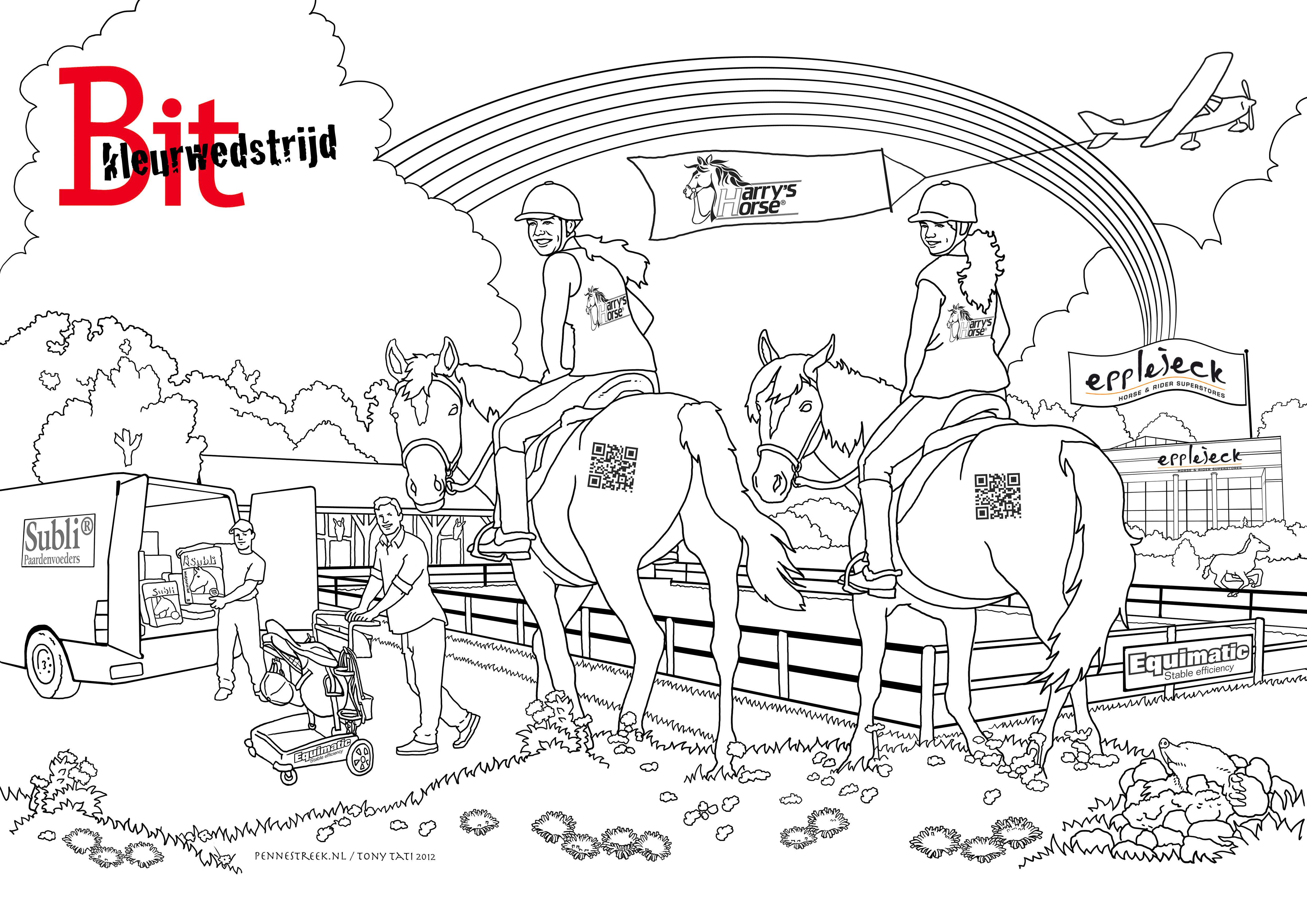 nieuw paarden kleurplaten fries krijg duizenden