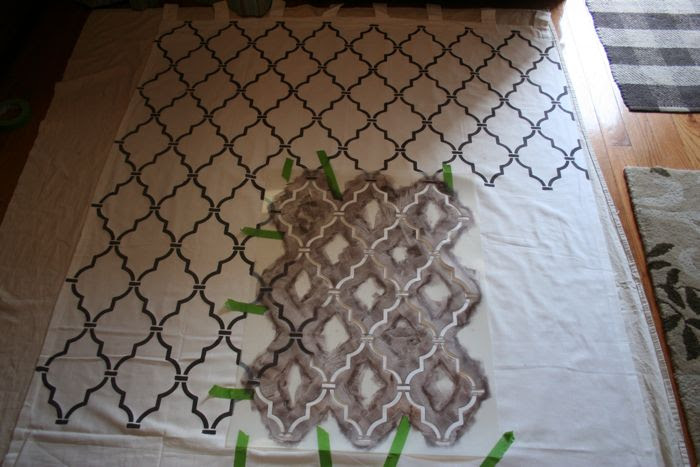 Royal Design Studio Stenciled Curtains {Knock-off Ballard Designs