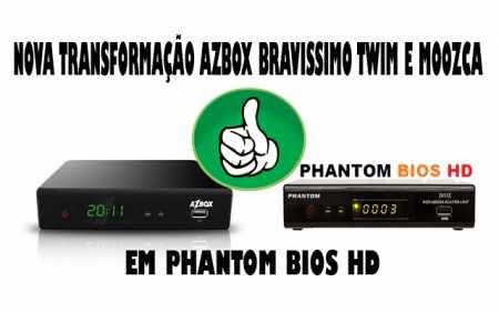 Azbox Bravíssimo Twin Transformado em Phantom Bios HD v1.065 58W 61W 107W IKS ON - 16/02/2018