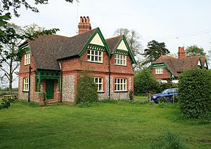English: Dog Kennel Cottages at Dog Kennel Gre...