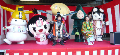 2012津まつり,藤堂高虎時代絵巻,ゆるキャラ,とらまる,シロモチ,ゴーちゃん,みすぎん,つつみん