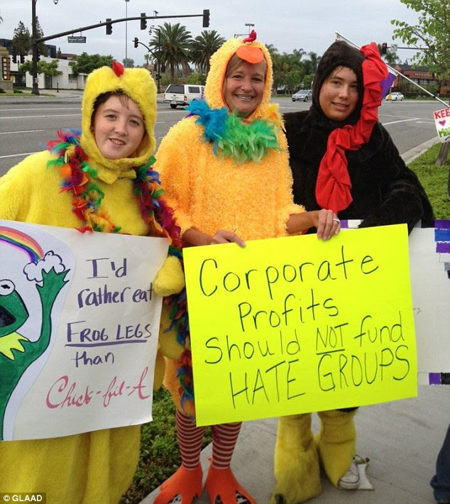 YETA (Youth Empowered to Act): A group of LGBT youth leaders between the ages of 14 and 24, protested the opening of a new Chick-fil-a franchise in Laguna Hills, California