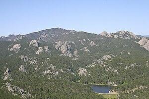 View looking towards the Black Elk Wilderness ...