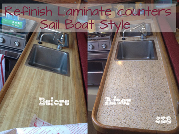 Laminate counter Makeover for $28 with Epoxy & Contact Paper…Yes I